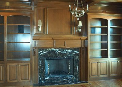 Library and Fireplace
