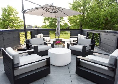 exterior patio with furniture